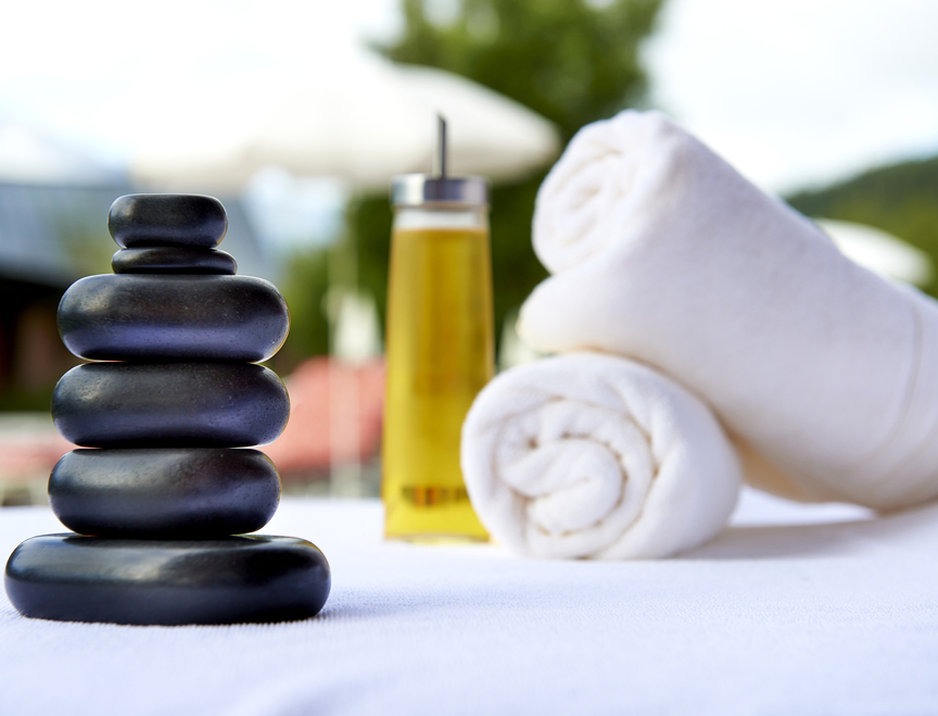 Hot Stone and Massage oil